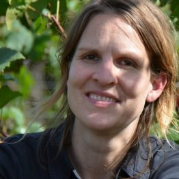 Annina bei der Rotweinlese